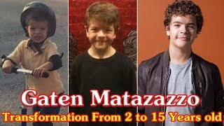 Gaten Matarazzo transformation from 2 to 15 years old