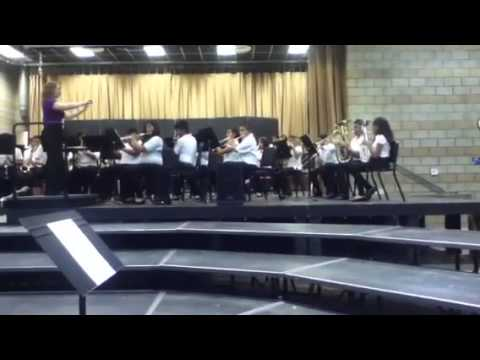 the green and gold band from roy romer middle school