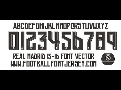 Real Madrid Players Numbers 2015 Real Madrid 2015 2016 Font Ttf