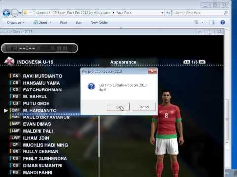Cara Install Team Pack Indonesia U19 by AddyJams di PESEDIT 6 0