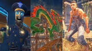 BLACK OPS 2 ZOMBIES SUPER EASTER EGG - BURIED, DIE RISE & TRANZIT + RICHTOFEN END GAME