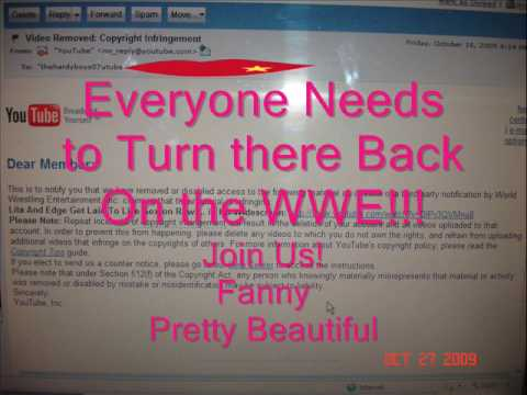 The Infamous Wwe Write Up Of Thehardyboys07utube To Have Them Shut Down! video