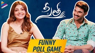 Kajal Aggarwal and Bellamkonda Sreenivas FUNNY POLL GAME | Sita Telugu Movie | Telugu FilmNagar