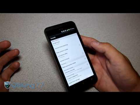 Face Unlock Demonstration on the HTC EVO 4G LTE