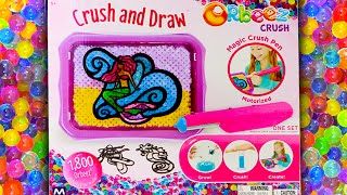 Orbeez Crush and Draw - I Color A Mermaid With Some Crushed Orbeez!