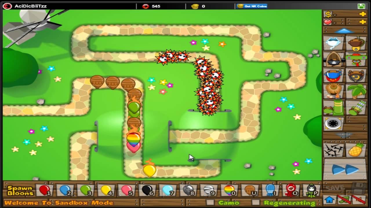Tower defense 5 btd5 new tower spike factory all level
