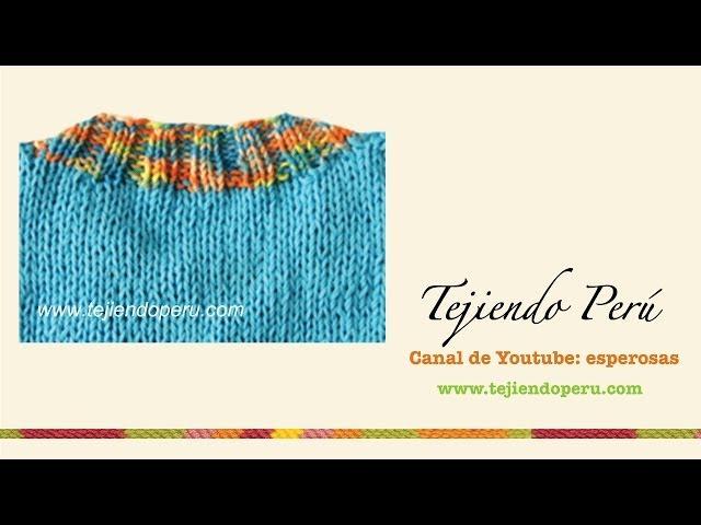 Dos agujas: cómo tejer un cuello redondo (pretina o borde)