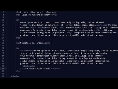 Curso Basico de HTML - 2. Etiquetas para Textos