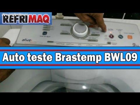 Auto teste lavadora de roupa Brastemp BWL09