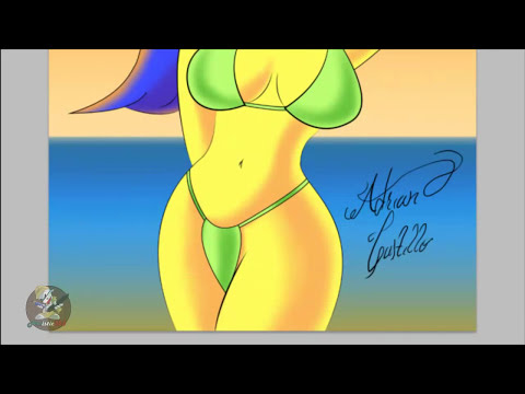 Speed Painting Marge Simpson