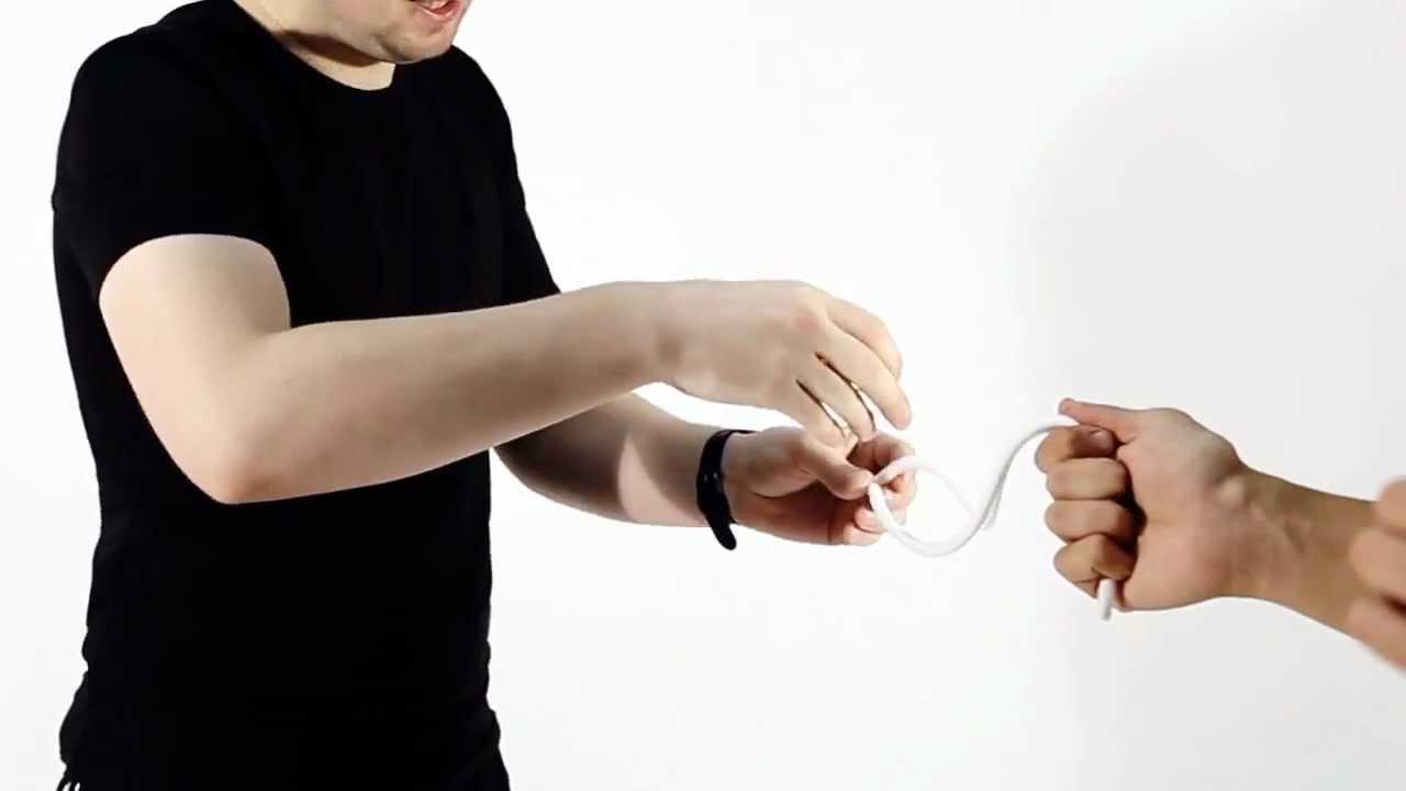 Как сделать фокус с кольцом и верёвкой