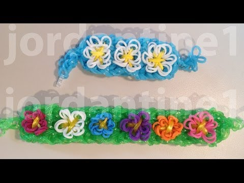 New Spring Flower Bracelet - Advanced Tutorial - Rainbow Loom, Crazy Loom, Wonder Loom, Bandaloom