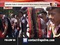 In Nagaland, Angami Public Organization held Public Procession