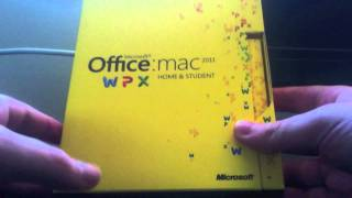Office for Mac 2011 Unboxing