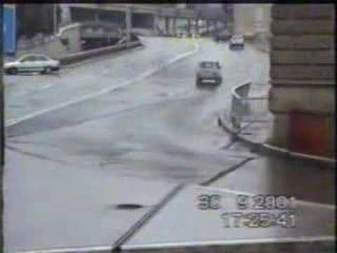 Car Crash On A Video Surveillance - Multiple Crazy Wrecks