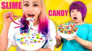 SLIME FOOD VS Candy Food Challenge!