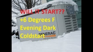 UPDATED 1/12/2018 Generac Guardian Series 17KW Home Generator, Winter Cold Start, 14°, Natural Gas
