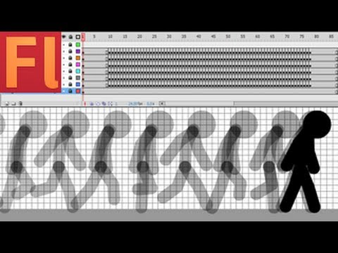 Stick Figure Run Animation Tutorial (Line tool, Flash CS5)