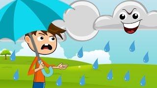 Rain, Rain, Go Away⛈ ⛈ ☔ ☔ ☔ | Nursery Rhyme with Lyrics ⛱ ⛱ ⛱ | Rain Rain Go Away Song for Children