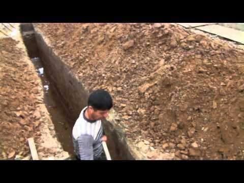 Копаем траншею под канализацию своими руками 2