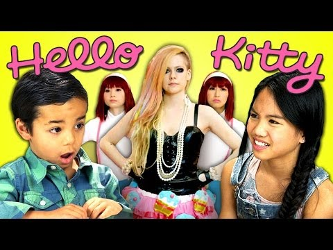 Kids React To Avril Lavigne - Hello Kitty video