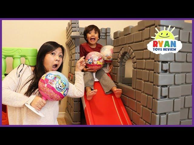 Ryan Unboxes  Giant Pikmi Pops Surprise Lollipop toys for kids