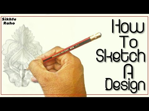 Sikhte Raho: how to Sketch a Design on butter paper || Tracing design