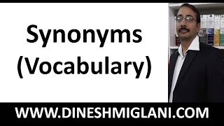 300 IMPORTANT SYNONYMS ( VOCABULARY) for SSC, IBPS, Government Job Exam