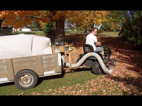 Leaf vacuum trailer