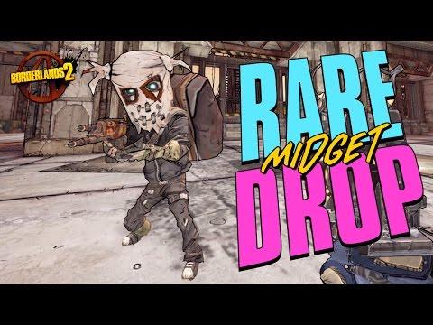BORDERLANDS 2 - RARE MIDGET DROP - OVERCOMING FEAR!