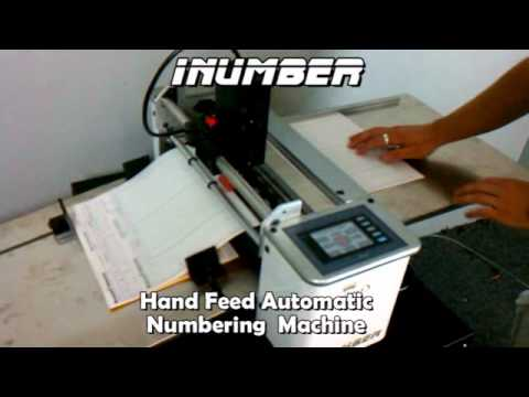 iNumber Affordable Manual Feed Automatic Numbering Machine