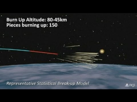Defunct satellite set to hit earth in hours