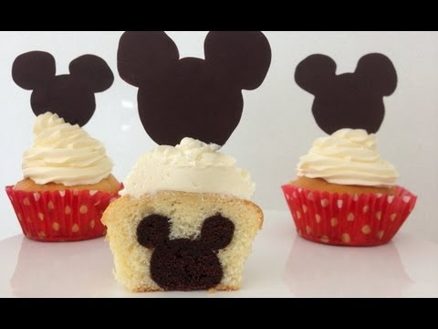 Mickey Mouse Cupcakes Mickey on INSIDE How To Cook That Ann Reardon