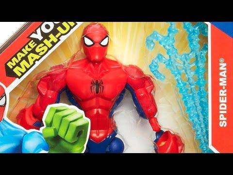 Сборные Супер Герои Человек-Паук / Super Hero Mashers Spider Man - чудо / Marvel - Hasbro - A6825