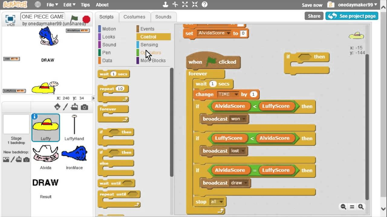 how to make a game like minecraft in scratch
