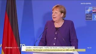 NATO-Gipfel Statement von Angela Merkel zum Abschluss am 04.12.19