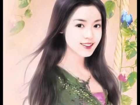 Chinese girl painting 2; Summer Spring YouTube - YouTube