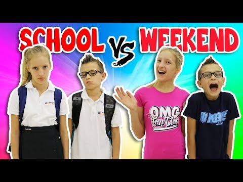 NIGHTTIME ROUTINE!!  SCHOOL DAY vs WEEKEND
