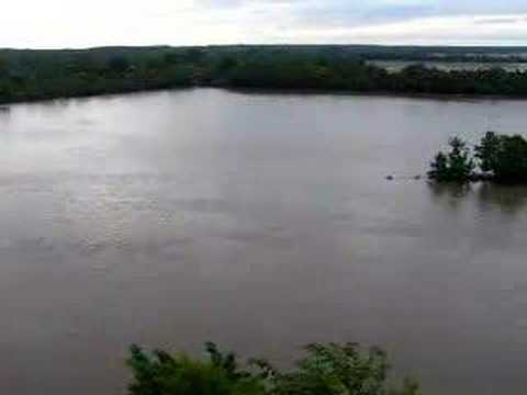 Neosho River Flooding Oswego, KS Bluff View