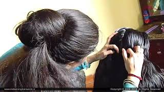 ILHW Rapunzel Neha's Nit Picking by Her Mom After Heavy Knee Length Hair Oiling