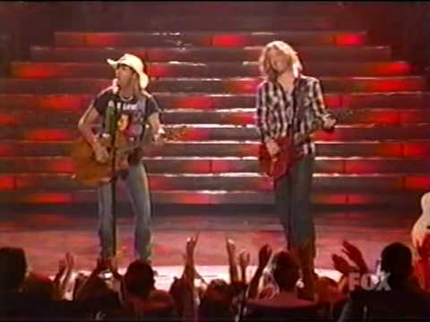 Brett Michaels and Casey James on American Idol