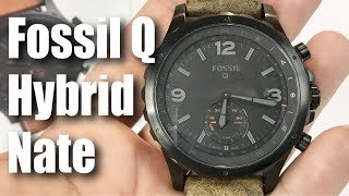 Fossil Q Nate Gen 2 Hybrid Brown Leather Smartwatch first look