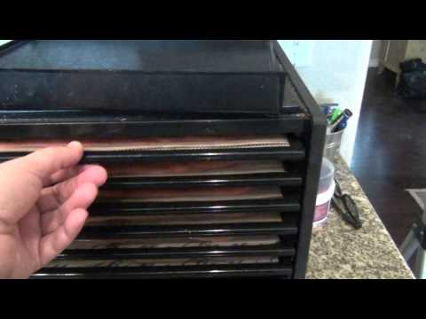 Using a dehydrator to make strawberry fruit roll-ups (leathers)