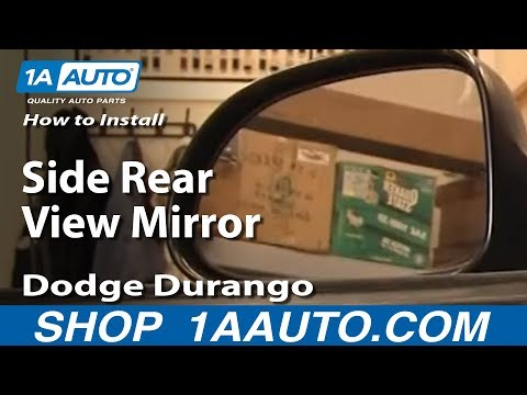 How To Install Replace Side Rear View Mirror Dodge Durango 97-03 1AAuto.com