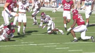 Alabama vs Texas A&M, 2016 - Hit by Mack Wilson