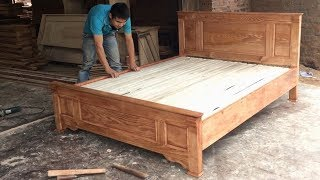 #Amazing Techniques Carpenters Woodworking Skills Easy - How To Building And Assembly A Bed
