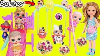 Muñecas de bebe LOL Surprise + Nuevas Huevos Sorpresa y Sus Hermanas Rutina Jugando Falsas Ladybug