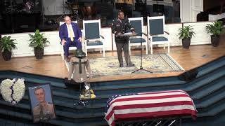 THP Cpt. Jimmie Johnson speaks at Matthew Gatti's funeral services