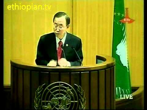 UN Secretary-General Ban Ki-moon at the 16th African Union summit in Ethiopia - Part 1 of 2