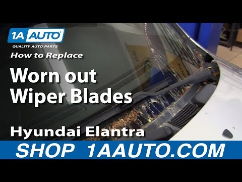How To Replace Worn out Wiper Blades 2001-06 Hyundai Elantra